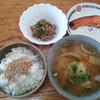 焼き鮭と白菜の味噌汁
