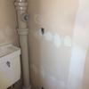 トイレに電源・便器破壊・クッションフロア貼った・クロス