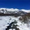 白馬村、白馬大橋からの冬景色が絶景。