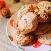苺で春を感じる!卵を使わない簡単チョコチップクッキー