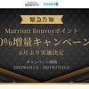 モッピーから緊急告知!MarriottBonvoyポイントが30%増量!3つの主な特典付きで6月より開始!