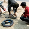 バイクのパンク。タイヤとチューブ交換。