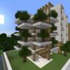 【Minecraft】緑のマンションを作る① 外装編【コンパクトな街をつくるよ13】