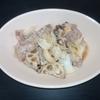ホットクック 試作レシピ 手動炒め5分で豚こま肉とキャベツとレンコンの味噌炒め
