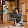 インドネシアのお客様、日本画体験