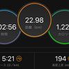 ジョギング22.98km・岩本式サブ3.5メニュー、3週目終了
