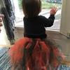 【娘のために手作り】縫わずに結んで子供用チュールスカート(Halloween用)