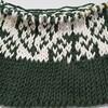 ダイソーの糸で、棒針編みのバッグを作り始めました。