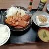 西川口の「あおき食堂」で鶏もも肉と冬瓜とミニハンバーグのトマト煮定食を食べました★