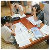 夏休みの宿題は個室よりリビングで。エコで会話も楽しい(^^)