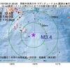 2017年07月26日 01時20分 房総半島南方沖でM3.4の地震