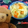 今日のごはん:千代の一番の粉末野菜ブイヨンで作るキャベツたっぷりポトフ