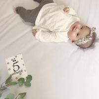 赤ちゃんの成長記録をステキ残したい♡参考にしたい『#月齢フォト』の撮り方