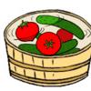 子どもの夕食メニューが思いつかない時におすすめ! きゅうりとトマトを美味しく見せる演出をさせてみた。