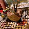 ホットサンドメーカーのデビュー戦はお肉でした。これが美味しすぎた。