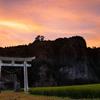 大分県耶馬渓町の青の洞門の鳥居を撮ってきた!