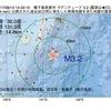 2017年08月14日 14時33分 種子島南東沖でM3.2の地震