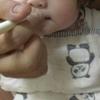 離乳食初期ごっくん 7日目 米粉10倍粥大さじ1