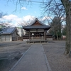 晴天の神社