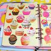 カップケーキのフレークシールが可愛い [ Daiso ]