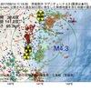 2017年09月14日 11時15分 茨城県沖でM4.3の地震