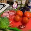 夏野菜の辛口パスタ