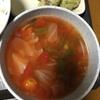ピーマンを消費するためにトマトスープ作った