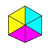 立方体がいつのまにか正六角形に見える錯視画像をProcessingで作る