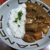「カレーライス」今日の俺の飯!!