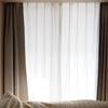 寝室の透けないレースカーテン、ウェーブロン