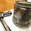 多肉を植えるための錆び缶をつくる(2)