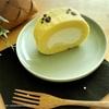 猫の足跡が可愛い☆手作りロールケーキ