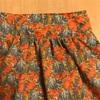 リバティプリントでプリーツスカートを作製~ミシンが楽しい(^^)