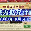 【刀剣乱舞】戦力拡充計画 2017/9/5開幕版