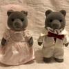 クマのウエディング、とお洋服を綺麗に