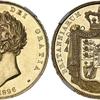 イギリス1826年ジョージ4世5ポンド金貨PF58