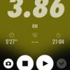 2018/01/15のトレーニング(ラン3.86km)