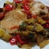 鶏肉の夏野菜ソース煮