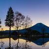ふもとっぱら 夜明けの逆さ富士