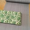 丹後木綿とタッサーシルク半巾帯
