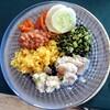 夏の食事:鶴さんが出してくれたおやつ「山盛りパクチー」