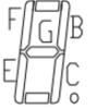 PIC16F1789 & MPUトレーナー 6 / 7 セグメント LED を使う 2 / 外部スイッチで何かを表示する