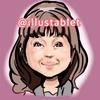iPadproで描いた かたせ梨乃さんの似顔絵。動画なし