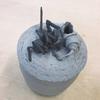大雀蜂の造形、山羊頭の釉掛け、アイベックス山羊の造形