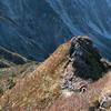 錦秋の大山三鈷峰、大満足の眺望だった