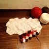 いろいろな毛糸で白樺編みを試し編み