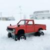 '81 TOYOTA HILUXに乗って、雪と格闘。