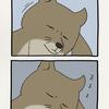 チベットスナギツネの砂岡さん「添い寝」