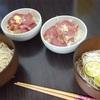 梅素麺 と タン塩 サラダ