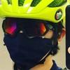 サイクルウェアメーカーの布マスク達、色々。